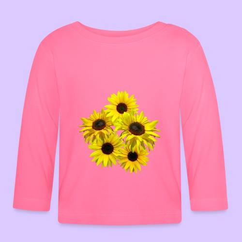 Sonnenblumenstrauss, Sonnenblume, Sonnenblumen - Baby Langarmshirt