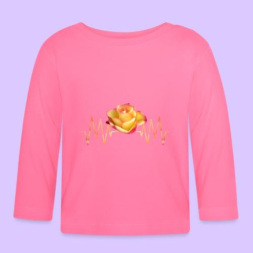 Rose, Herzschlag, Rosen, Blume, Herz, Frequenz - Baby Langarmshirt