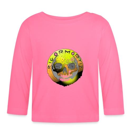 Rigormortiz Metallic Yellow Orange Design - Baby Long Sleeve T-Shirt