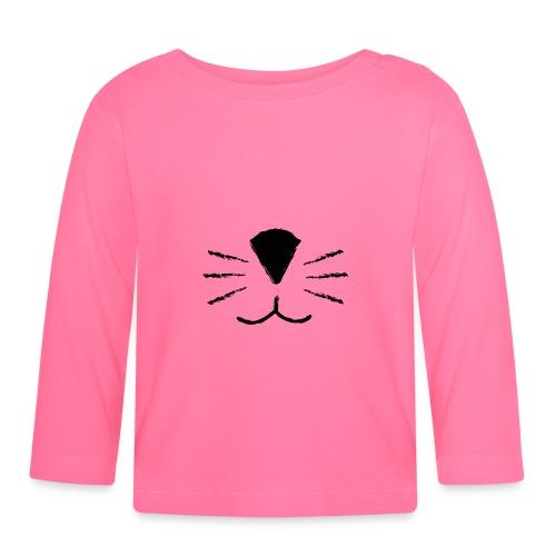 Katzen Schnute - Baby Langarmshirt