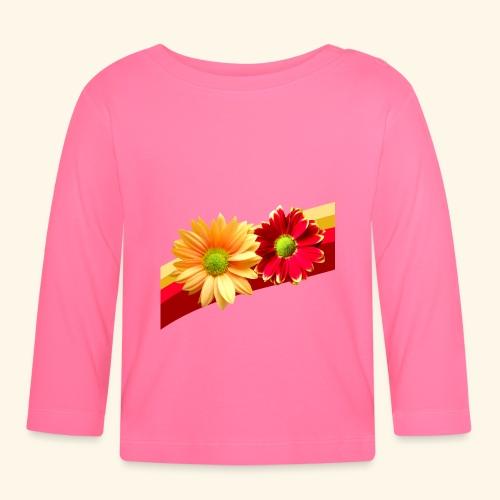 Blumen in den Farben rot und gelb, Blüten, floral - Baby Langarmshirt