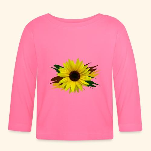 Sonnenblume, Sonnenblumen, Blume, floral, blumig - Baby Langarmshirt