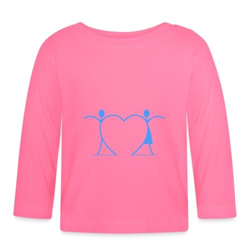 Tenersi per mano, andare lontano.... LIGHT BLUE - Maglietta a manica lunga per bambini