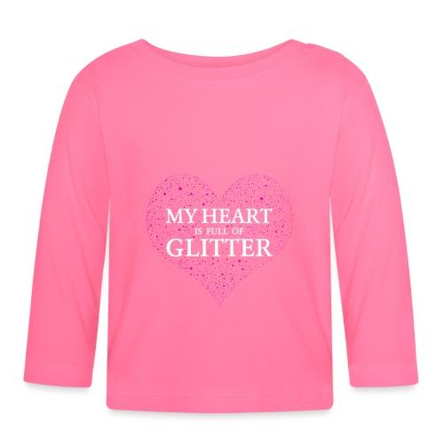Herz Glitzer - Baby Langarmshirt