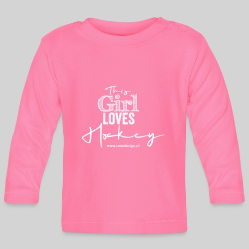 This Girl loves Hockey (white) - Baby Langarmshirt