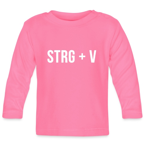 Strg+V Kind und Vater Computer Partnerlook - Baby Langarmshirt