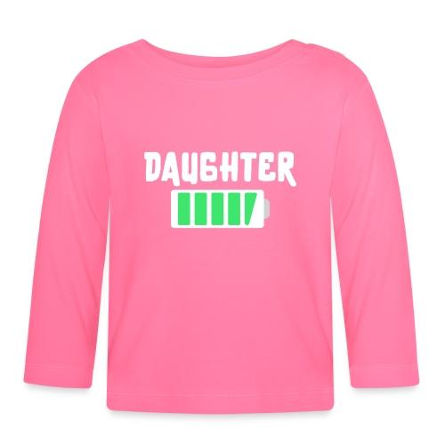 Daughter Voller Akku Tochter Baby - Baby Langarmshirt