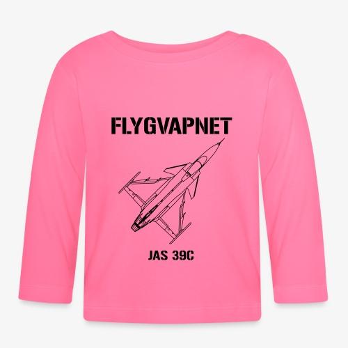 Flygvapnet JAS 39C - Långärmad T-shirt baby