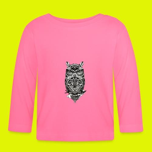 maglietta gufo - Maglietta a manica lunga per bambini