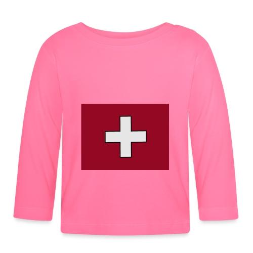 Swiss Flagge - Baby Langarmshirt