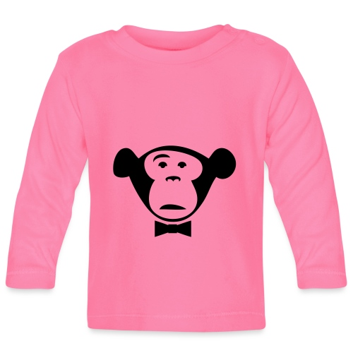 Monkey Media Official Logo - Baby Langarmshirt