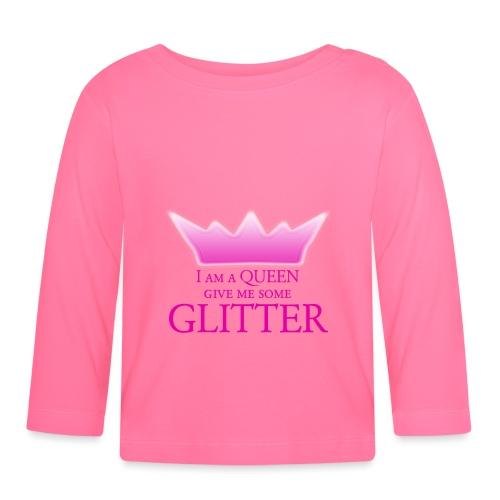 Glitter Queen - Baby Langarmshirt