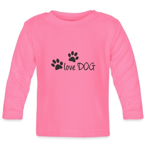 LOVE DOG - Baby Langarmshirt