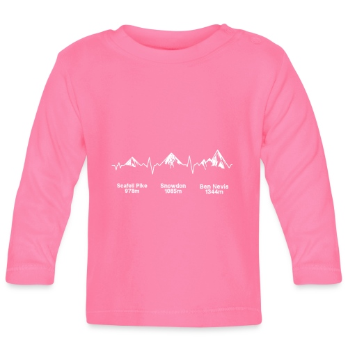 ECG Thee Peaks Dark Background - Baby Long Sleeve T-Shirt