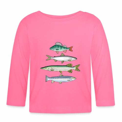 FOUR FISH - Ahven, siika, hauki ja taimen tuotteet - Vauvan pitkähihainen paita