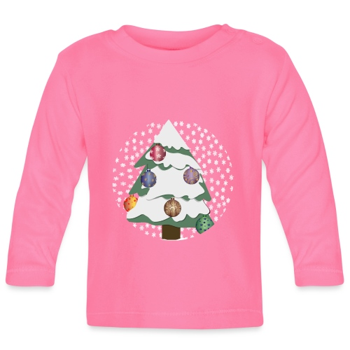 Christmas tree in snowstorm - Baby Long Sleeve T-Shirt