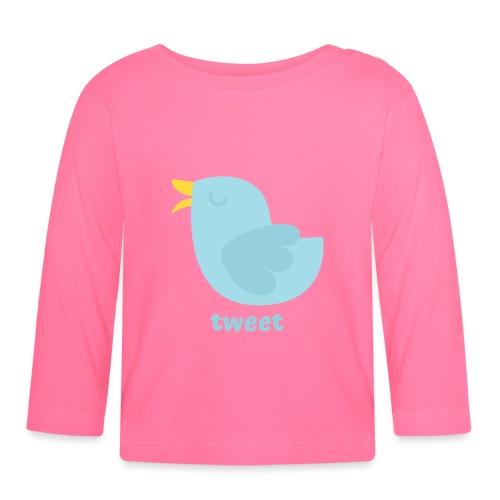 tweet - Langærmet babyshirt