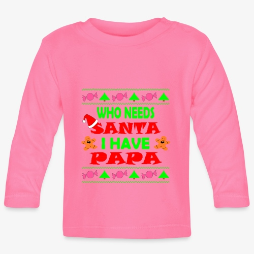 I have papa Ugly Christmas Sweater - Baby Langarmshirt