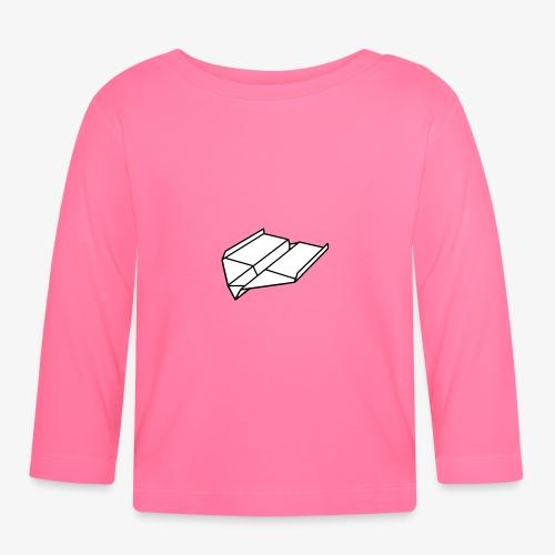 Origami Papierflieger - Baby Langarmshirt