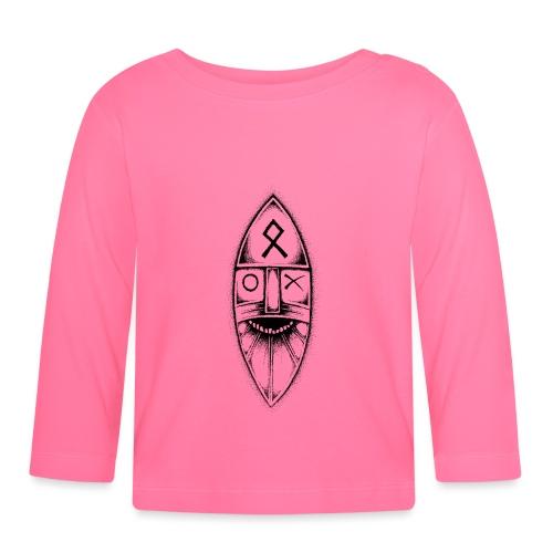 Odin / Wodan / Wotan Drawing - Baby Long Sleeve T-Shirt
