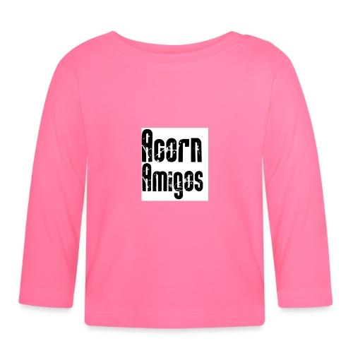 acorn amigos badge - Långärmad T-shirt baby