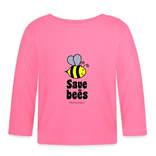 Bees9-1 save the bees | Bienen Blumen Schützen - Baby Long Sleeve T-Shirt