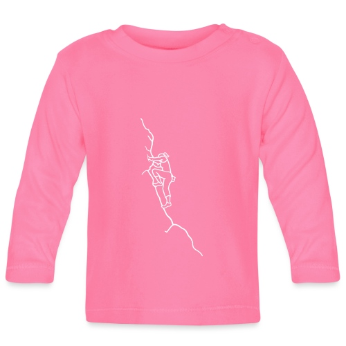 Kletter-Girl, weiß, 3 - Baby Langarmshirt