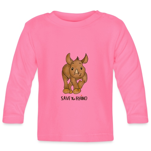 Save the Rhino - Baby Long Sleeve T-Shirt