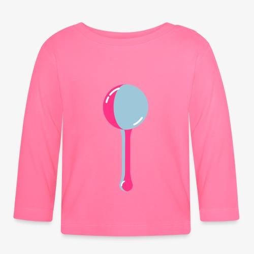 Baby Rassel - zweifarbig, flat style, stilisiert - Baby Langarmshirt