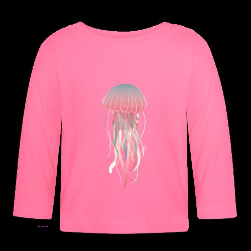 Pastel jellyfish watercolor - Baby Long Sleeve T-Shirt
