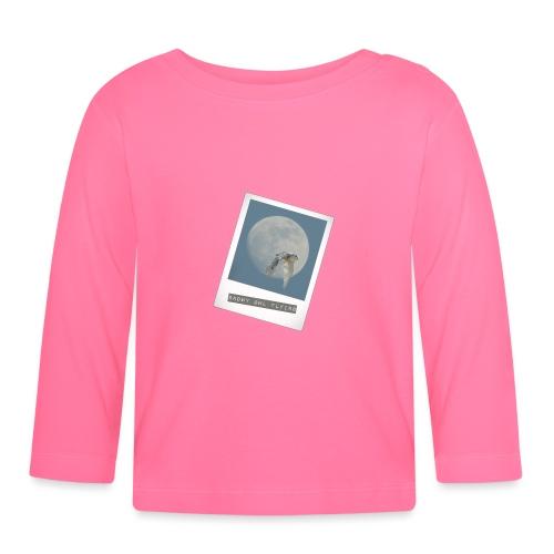 Owl Magical Polaroid Flying Full Moon - Baby Long Sleeve T-Shirt