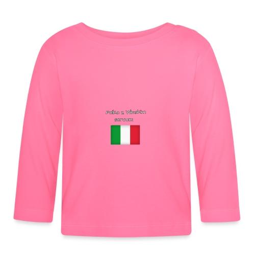 Włosko-polska - Koszulka niemowlęca z długim rękawem