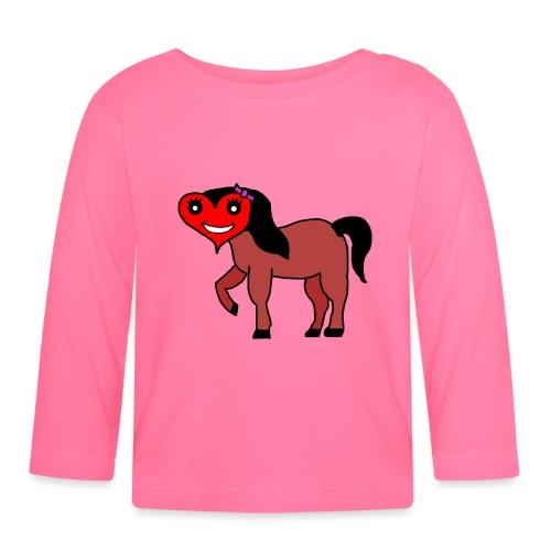 Herz Pferd fohlen - Baby Langarmshirt