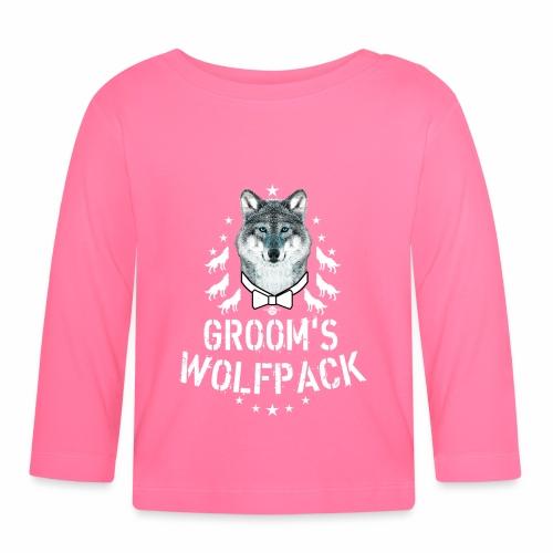 164 Wolf JGA GROOM'S Wolfpack - Baby Langarmshirt