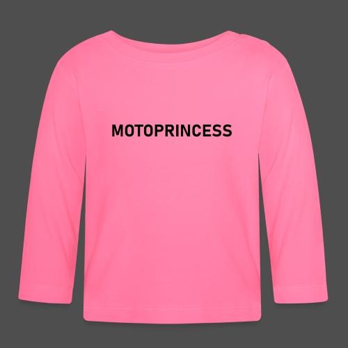 moto księżniczka - Koszulka niemowlęca z długim rękawem