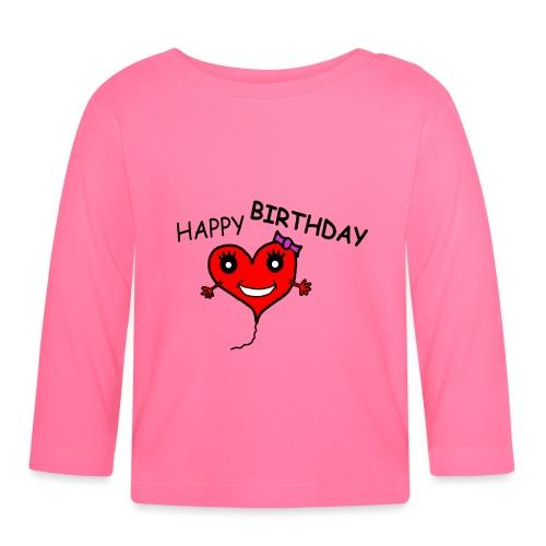 Herz Smiley Geburtstag - Baby Langarmshirt