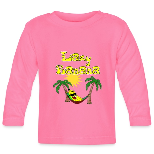 Who is as chilly as the Lazy Banana - Baby Long Sleeve T-Shirt