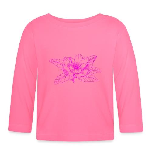 Camisetas y accesorios de flor color rosada - Camiseta manga larga bebé