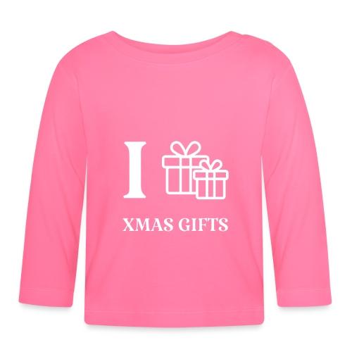 I love xmas gifts - Langarmet baby-T-skjorte