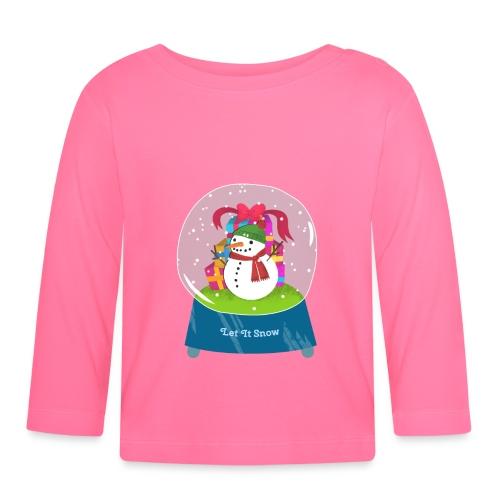 Let it snow - Langarmet baby-T-skjorte