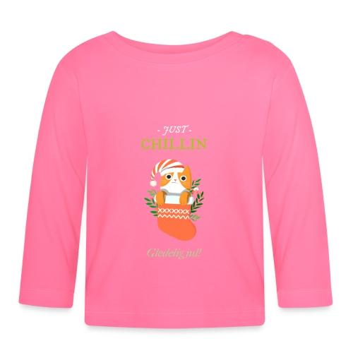 Just chillin - Gledelig jul - Langarmet baby-T-skjorte
