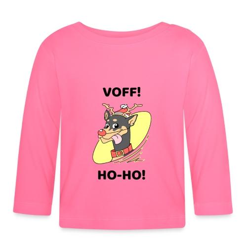 Morsomt julemotiv til hundeelsker - Langarmet baby-T-skjorte