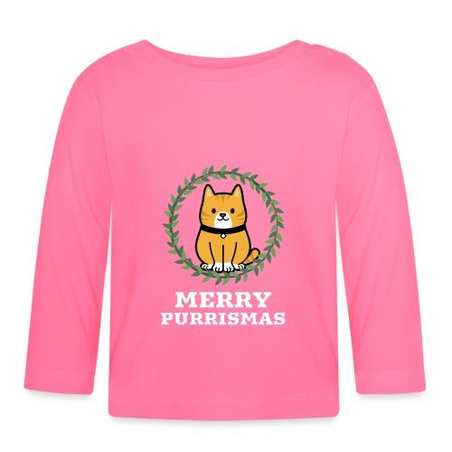 Merry Purrismas - Langarmet baby-T-skjorte