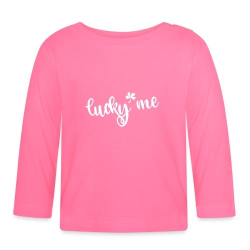 lucky me - Glückspilz - glücklich St Patrick's day - Baby Long Sleeve T-Shirt