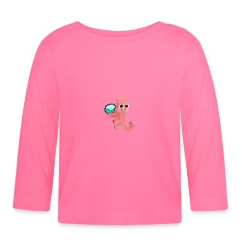 Schwein mit Diamant - Baby Langarmshirt