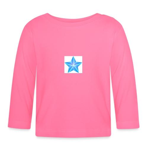 blue themed christmas star 0515 1012 0322 4634 SMU - Baby Long Sleeve T-Shirt