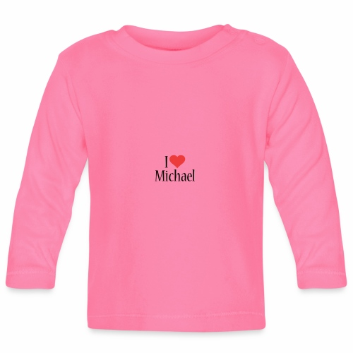 Michael designstyle i love Michael - Baby Long Sleeve T-Shirt