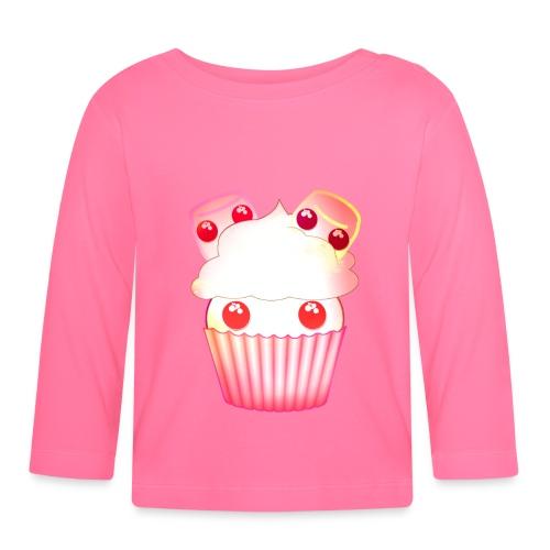 harajuku kawaii cupcake muffins med marshmallows - Baby Long Sleeve T-Shirt