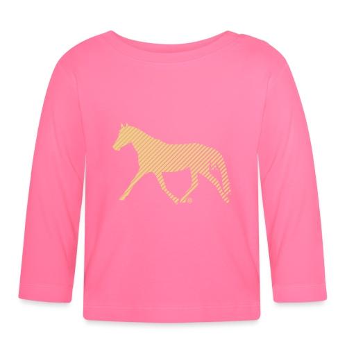 Streifen Pferd - Baby Langarmshirt