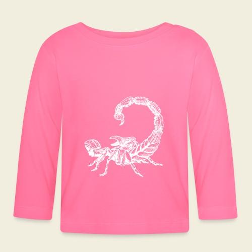 Skorpion weiß - Baby Langarmshirt